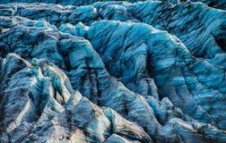 Ледник Svinafellsjokull Стоковое Изображение