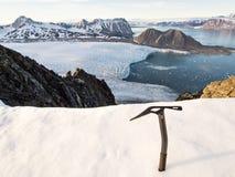 Ледовитый ландшафт горы - Свальбард, Шпицберген Стоковая Фотография