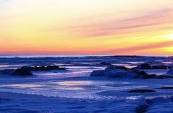Ледовитый восход солнца Стоковые Изображения