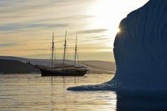 Ледовитый корабль Стоковые Фото