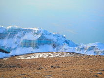 Ледохранилище в Mount Kilimanjaro Стоковое фото RF