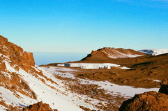 Ледохранилище в Mount Kilimanjaro Стоковые Изображения RF