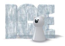 Лед полярного медведя Стоковое Изображение