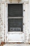 Лед продал здесь дверь Стоковые Изображения RF