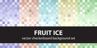 Лед плодоовощ картины шахматной доски установленный иллюстрация вектора