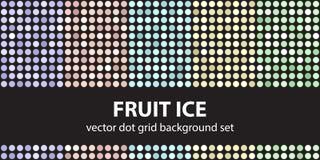 Лед плодоовощ точечного растра польки установленный Точка b вектора безшовная геометрическая бесплатная иллюстрация