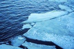 Лед реки Стоковое Изображение