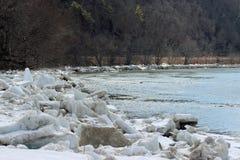 Лед Рекы Susquehanna Стоковые Изображения RF