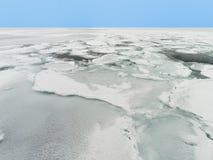 Лед смещения моря Охотска в Хоккаидо, Японии Стоковые Фотографии RF