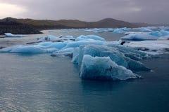 Ледяные поля на озере Jokulsarlon Стоковые Фотографии RF