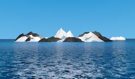 Лед mountian с океаном Стоковое Изображение