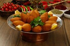 Ливанская еда зажаренного Kibe Стоковые Изображения RF