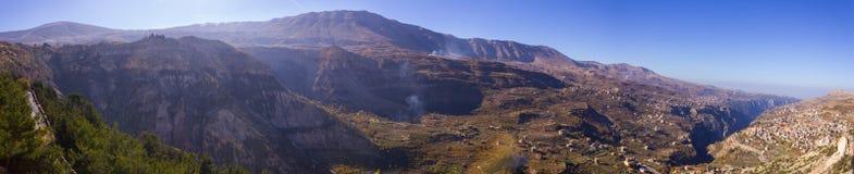 Ливанский ландшафт и шоссе Стоковые Изображения RF