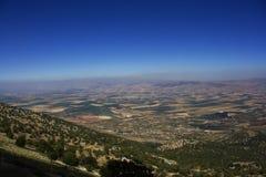 Ливанский ландшафт, долина Bekaa Valley Beqaa (Bekaa), Baalbeck, Ливан Стоковые Фотографии RF
