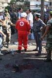 Ливанский взрыв бомб Стоковое Изображение