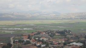 Ливан и Израиль граничат взгляд от к северу от Израиля видеоматериал
