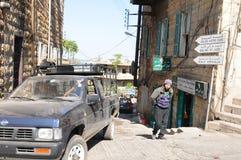 Ливан: переулок около гавани города Бейрута стоковое изображение