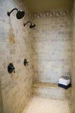 ливень ванной комнаты домашний роскошный стоковые изображения rf