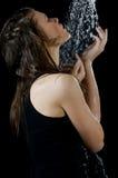 ливень девушки вниз Стоковое Фото