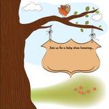 ливень карточки младенца объявления Стоковое Изображение