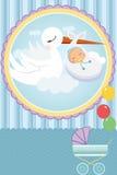 ливень карточки младенца иллюстрация штока