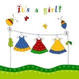 ливень карточки младенца Стоковое Изображение