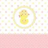Ливень младенца с утенком Стоковое Изображение