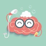 Ливень мозга иллюстрация вектора