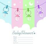 ливень приглашения карточки младенца иллюстрация вектора