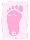 ливень девушок карточки младенца Стоковое Изображение RF