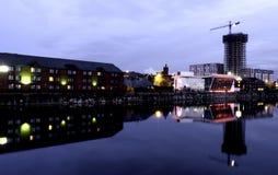 Ливерпуль стыкует - портовый район причала киля реки Мерси, Ливерпуля, Великобритании Стоковое Фото