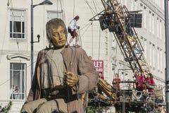 Ливерпуль Giants - город культуры 2018 стоковое изображение rf