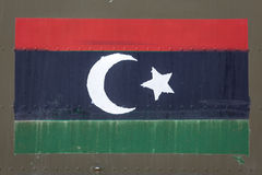Ливийський флаг на фюзеляже Стоковое Изображение RF