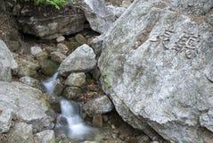 Ливневый поток в камне Стоковые Изображения