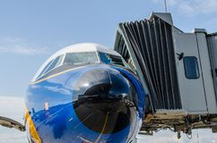 Ливрея Люфтганза аэробуса A321 ретро Россия Санкт-Петербург 10-ое августа 2017 Стоковое Фото