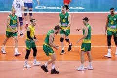 Лига Австралия наций волейбола FIVB против России Стоковое Изображение RF