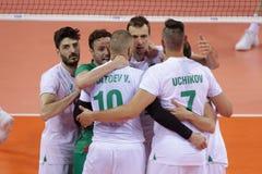 Лига Болгария наций волейбола FIVB против Сербии Стоковая Фотография RF