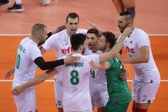 Лига Болгария наций волейбола FIVB против Сербии Стоковое Фото