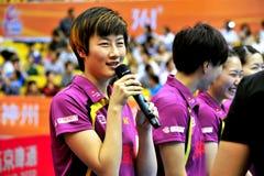 Лига настольного тенниса Китая супер Стоковые Фото