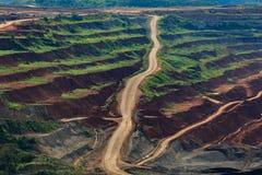 Лигнит угольной шахты для lampang Таиланда производства электроэнергии стоковая фотография