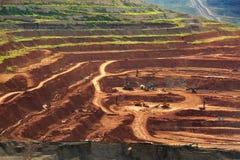 Лигнит угольной шахты для lampang Таиланда производства электроэнергии стоковые фото
