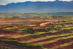 Лигнит угольной шахты для lampang Таиланда производства электроэнергии стоковая фотография rf