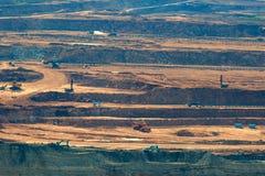 Лигнит угольной шахты для lampang Таиланда производства электроэнергии стоковое изображение rf
