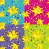 лилии цветка, котор нужно пожелтеть Иллюстрация вектора