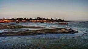 Лиман реки Гамбии стоковые фото