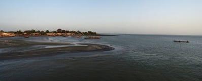 Лиман реки Гамбии стоковая фотография rf