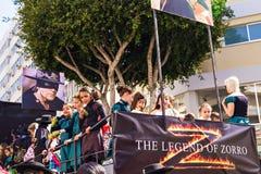 ЛИМАСОЛ, КИПР - 26-ОЕ ФЕВРАЛЯ: Масленица детей принимать парад масленицы детей, 26-ое февраля 2017 в Лимасоле Стоковые Фотографии RF