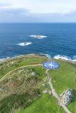 Лимб картушки компаса в Coruna, Галиция, Испания Стоковые Изображения RF