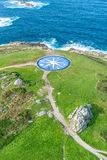 Лимб картушки компаса в Coruna, Галиция, Испания Стоковые Фотографии RF