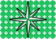 Лимб картушки компаса на абстрактной зеленой предпосылке Стоковое фото RF